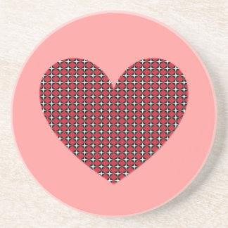 Corazón adaptable del diamante posavasos manualidades