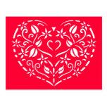 Corazón afiligranado tarjeta postal