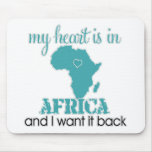 Corazón África Tapete De Ratones