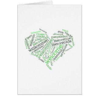 Corazón agradable tarjeta de felicitación