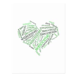 Corazón agradable tarjetas postales