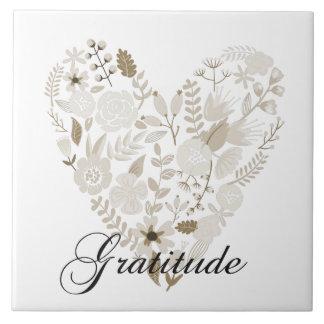 Corazón agradecido azulejos