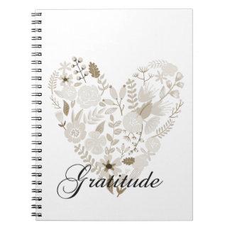 Corazón agradecido libros de apuntes con espiral