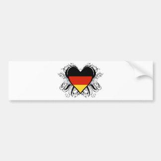 Corazón alemán decorativo pegatina de parachoque