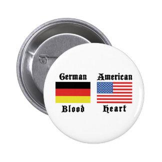 Corazón alemán del americano de la sangre pin