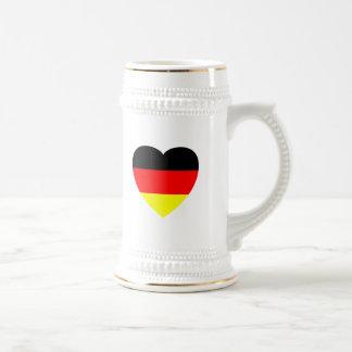 Corazón alemán jarra de cerveza