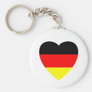 Corazón alemán llaveros personalizados