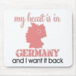 Corazón Alemania Tapete De Ratón