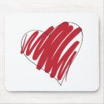 Corazón Alfombrilla De Ratones