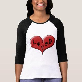 Corazón amado: Corazón hinchado grande por las Remeras