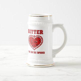 Corazón amargo de la bala tazas de café