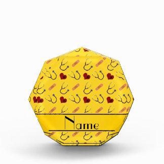 Corazón amarillo conocido de encargo del vendaje
