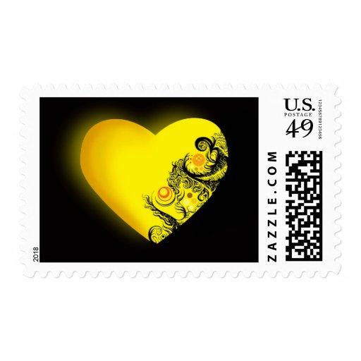 Corazón amarillo envio