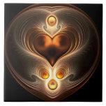 Corazón ambarino de la eternidad teja