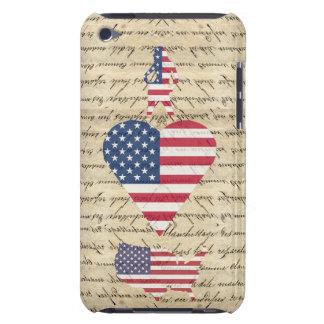 Corazón América de VintageI Case-Mate iPod Touch Cobertura