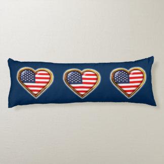 Corazón americano cojin cama