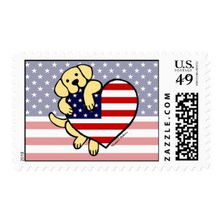 Corazón americano amarillo 2 de Labrador Envio