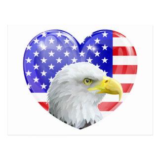 Corazón americano del amor de Eagle Postal