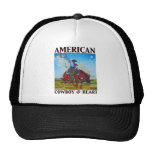 Corazón americano del patriota @ por la bella arte gorra