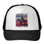 Corazón americano del vaquero @ por la bella arte  gorras