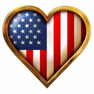 Corazón americano imán fotoescultura