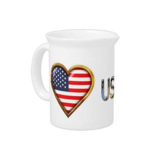 Corazón americano jarrón