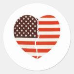Corazón americano quebrado etiquetas