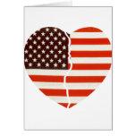 Corazón americano quebrado tarjeta