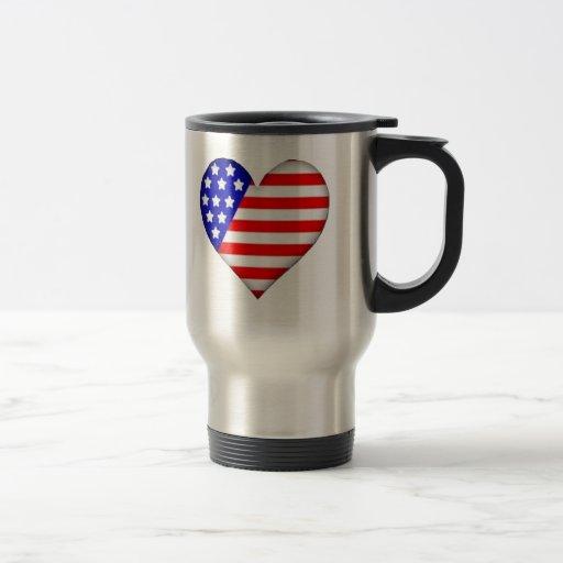 Corazón americano taza de café