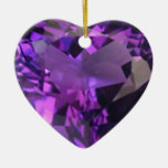 Corazón Amethyst Ornamento Para Arbol De Navidad