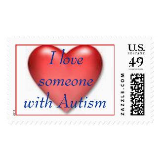 corazón, amo alguien con autismo sello