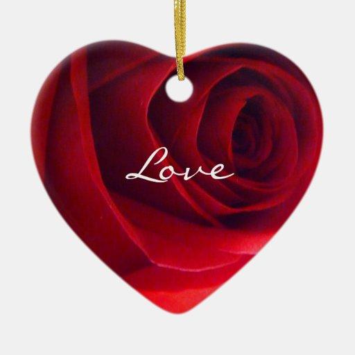 Corazón-Amor color de rosa Ornamentos De Reyes