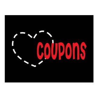 Corazón - amor - cupones tarjeta postal