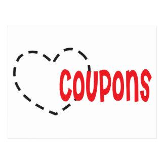 Corazón - amor - cupones tarjetas postales