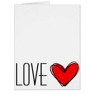 ¡Corazón-AMOR rojo usted! Tarjeta De Felicitación Grande