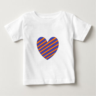 Corazón anaranjado y azul tshirt