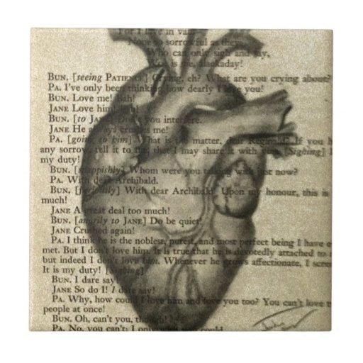 corazón anatómico azulejos ceramicos