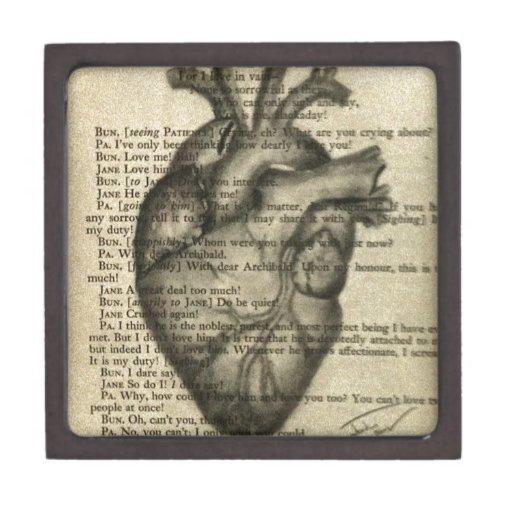 corazón anatómico caja de recuerdo de calidad