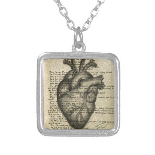 corazón anatómico colgante cuadrado