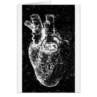Corazón anatómico con el ojo de la cerradura tarjeta de felicitación