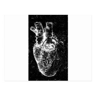 Corazón anatómico con el ojo de la cerradura tarjeta postal
