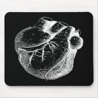 Corazón anatómico correcto tapete de ratón