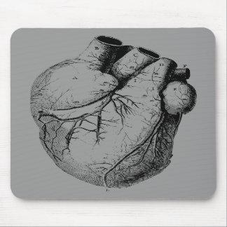 Corazón anatómico correcto tapetes de ratones