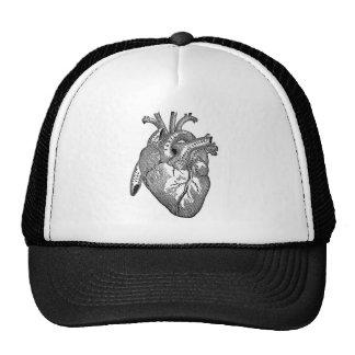 Corazón anatómico del vintage gorros bordados