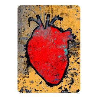 """corazón anatómico invitación 5"""" x 7"""""""