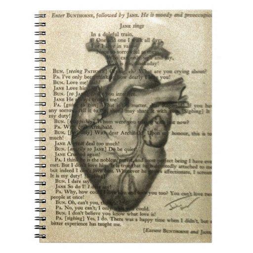 corazón anatómico libreta espiral