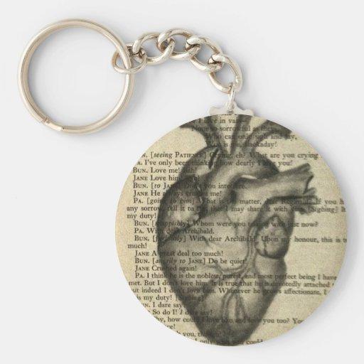 corazón anatómico llaveros personalizados