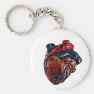Corazón anatómico llavero redondo tipo pin