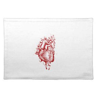Corazón anatómico manteles