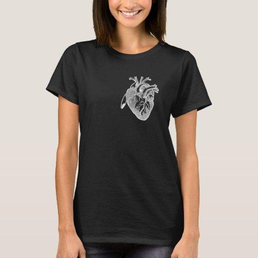 Corazón anatómico playera